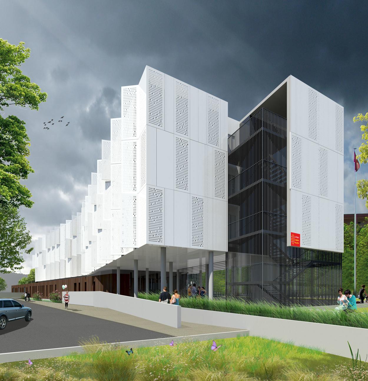 Internat philippe lamour grenier thomas architecte for Architecte lattes
